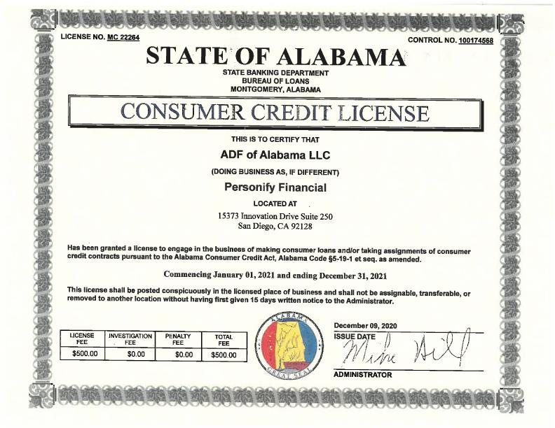 Alabama License
