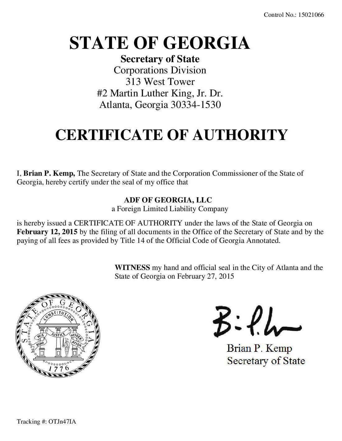 Georgia License