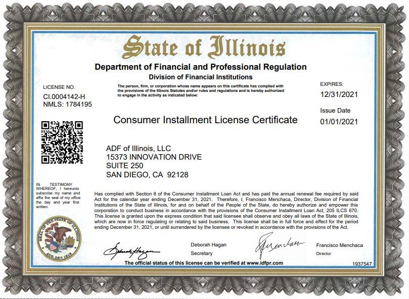 Illinois License